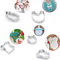 5PCS Cookie Cutters Baby Shower Clothes Biscuits Mold Baking Fondant Cake Mould