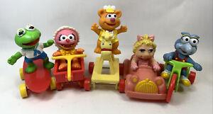 Vintage 1980's McDonald's Muppet Babies Happy Meal Kermit Frog Animal Complete