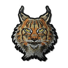 Embroidered Lynx Cat Sew or Iron on Patch Biker Patch