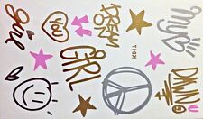 Flash Disposable Temporary Tattoo Gold Silver Pink 14 Pieces Bracelet Foot
