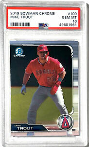 Mike Trout 2019 Bowman Chrome #100 PSA 10 GEM MINT Angels