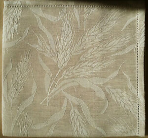 "French Jacquard Linen / Cotton Napkins 21"" x 21"" Raw"