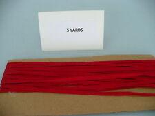5 YARDS  VINTAGE 3/16 IN.RED MIDDY BRAID