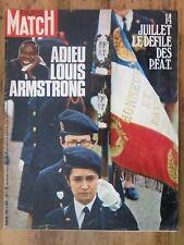 Paris Match N°1158 du 17 juillet 1971. Très bon état.