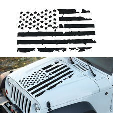 Pair Military Jeep Star Printed American Flag Decal Army Decal Sticker jeep 001