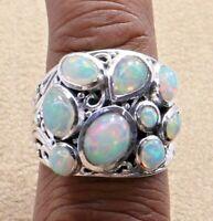 925 Sterling Ethiopian Opal Fine Ring Size 8 Women Silver Fine Jewelry R-27790