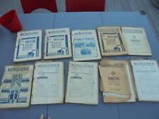 A sauver : Lot Anciens Magazines Menuiserie Charpente Ebenisterie +-1930