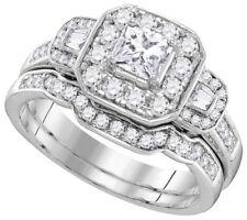 Princess Cut Diamond 2.50 CTW Wedding Ring Sets 18k Gold GIA Certified