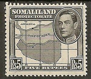 SOMALILAND 1938 KGVI 5R MAP SG104 MNH