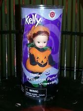 NIB BARBIE DOLL 2001 KELLY Chelsie HALLOWEEN PARTY Pumpkin jack o'lantern  NIB