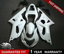Bodywork White Fairing Kit Unpainted ABS for SUZUKI GSXR 600 /750 2001 2002 2003