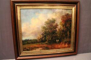 Tableau huile sur toile signée titrée Retour du champ