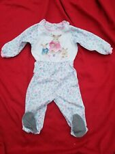 Vintage 80s Carter Baby Girl Easter Footed Snap Onepiece Bunnies 18-24m