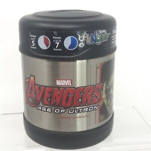 Thermos Funtainer Food Jar Marvel Avengers Age of Ultron 10oz Vacuum Insulated