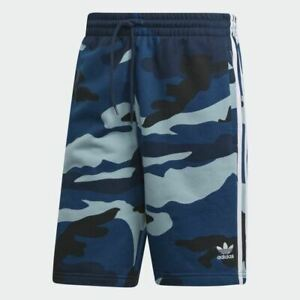 Mens Adidas Camouflage Shorts Navy