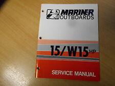 Service shop repair manual Outboard Mariner 15 / W15 (1975) Werkstatthandbuch
