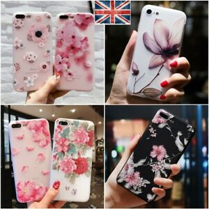 Flower Phone Case For iPhone 11 PRO XR XS 6 7 8 Soft Silicone Cover 1000 pcs lot