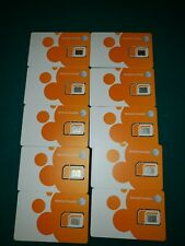 At&T factory 3in1 Nano, Micro, Standard size Lte sim card Newest lot of 10