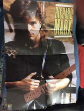 Richard Marx Poster w/Guitar 1987 Vintage Memorabilia