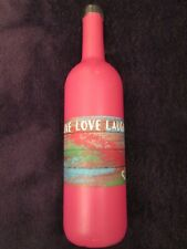 Handcrafted Hand Painted Wine Bottle Decor Pink Live Love Laugh