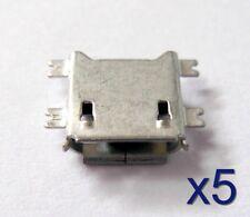 5x Connecteur à souder micro USB type B femelle/ 5pcs Female connector to solder