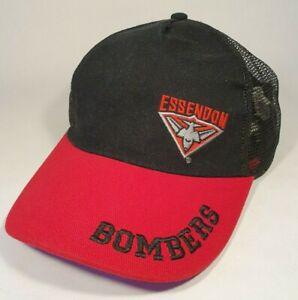 Vintage Essendon Bombers AFL Footy Mesh Snapback Cap Hat