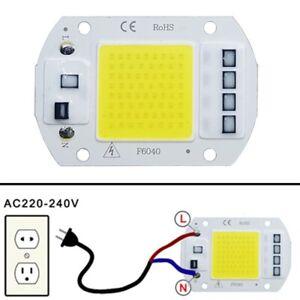 Lamp COB LED Chip Bead Light High Power Beads SMD Bulb 50W White 240V Square