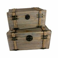 Vintage Wooden Storage Chests - Crates Storage Chest Basket Box Shabby Chic