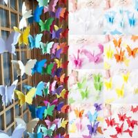 2.7m Butterfly Paper Garland Bunting Party Wedding Baby Shower Decorations hi
