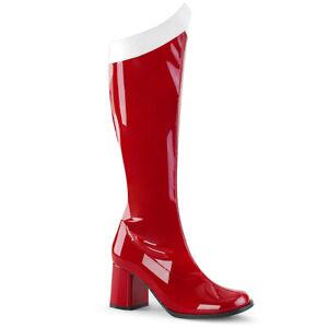 "Womens 3"" red wonder woman gogo costume boot"