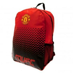 Manchester United Backpack School Bag Red Black Rucksack MUFC Outdoor Official