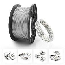Edelstahl Seil V4A PVC Spannschloss Simplex Duplex Bügel Klemmen Schäkel Kausche