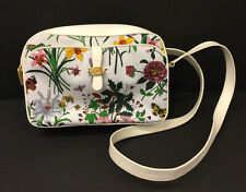 Vintage GUCCI Bright Floral Shoulder Bag Goldtone Hardware
