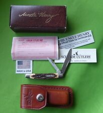 "Schrade USA made 833uh ""Prairie Jack""  Pocket Knife in Box/Sheath/Papers-MIB."