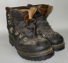 Vtg Fabiano MountaineeringBrown Leather Italian Made Boots Men'sSize 7 NO LACES