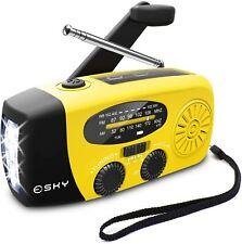 Emergency  Radio Crank Solar Hand Weather 1000mAh Power Bank Charger Flash Light
