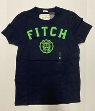 New Abercrombie & Fitch Muscle Fit Men's Crewneck T-Shirt, Navy Blue, Size XL