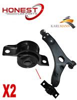 For FORD FOCUS MK1 98-05 FRONT LOWER WISHBONE ARM REAR BUSHS L/R X2 By Karlmann
