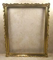 "Vintage Brass Mid Century Frame Metal Ornate 8""X10"" Baroque Filigree MCM Rococo"