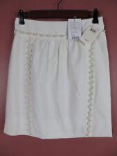 SK11188- NWT ANTHROPOLOGIE LEIFSDOTTIR Misses Cotton Pencil Skirt Beaded 2