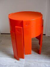 Lot de 3 Tables RONDES GIGOGNE époque VINTAGE plastique FLAIR design1970 -Orange
