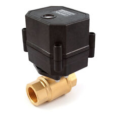 """3/8"""" Motorized Ball Valve Brass 9 V, 12 to 24 VDC/VAC 2-wire N/C Normally Closed"""