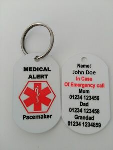 Personalised Medical Alert keyring for Pacemaker fitted