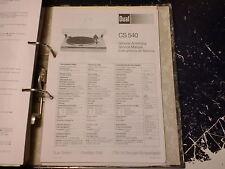 Dual Service Manual tocadiscos CS 545, etc. 1 trozo escoger/choose 1 Piece