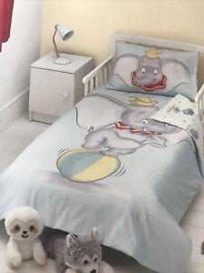 Disney Baby DUMBO Easy Care Reversible Duvet Set 1 Pillowcase Cot Junior Toddler
