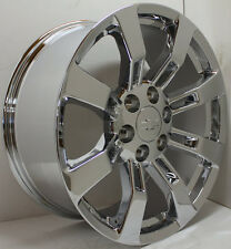 "New Set of 20"" Chrome 8 Spoke Chevrolet Suburban Silverado Wheels Rims"