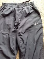 Mens Umbro Grey Training Pants Trousers Pockets M