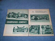 "1961 Fiat Topolino Twin Chevy Dragster Vintage Article ""Cracked Compact"" Two Rod"