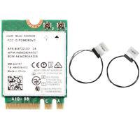 Antennas+Intel 8260 NGFF/M.2 Dual Band 802.11ac 867Mbp Bluetooth 4.2 Wifi Card
