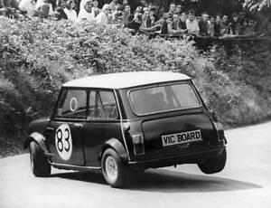 OLD LARGE PHOTO Motor Racing, Austin Mini Cooper of Vic Board 1975